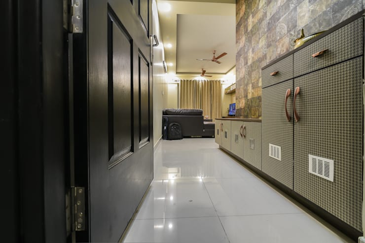Two BHK - Whitefield:  Living room by Wenzelsmith Interior Design Pvt Ltd,Classic