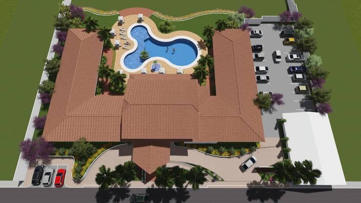 Hotel: Telhados  por Josimar Rodrigues Arquitetura &Urbanismo