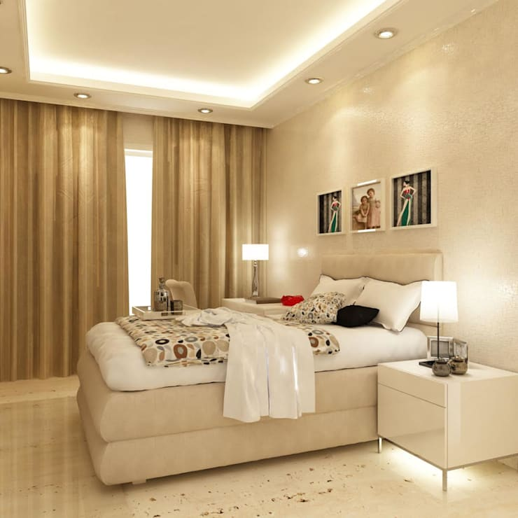 Guest Bedroom design: modern Bedroom by aidecore