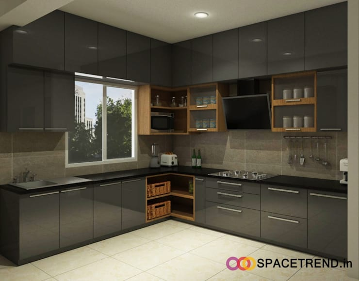 Prestige Tranquility:  Built-in kitchens by Space Trend