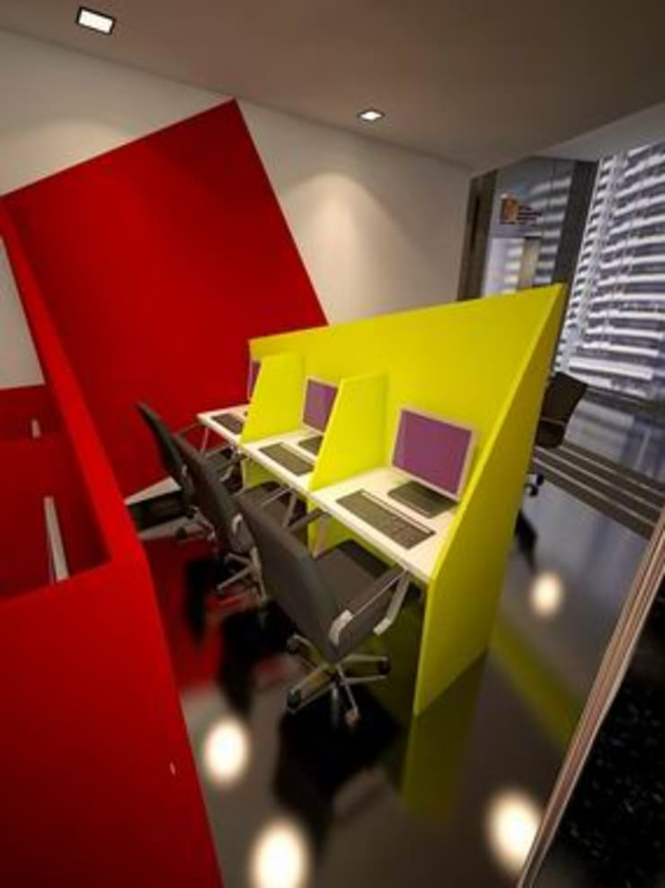 Computer Lab:  Schools by Studio - Architect Rajesh Patel Consultants P. Ltd