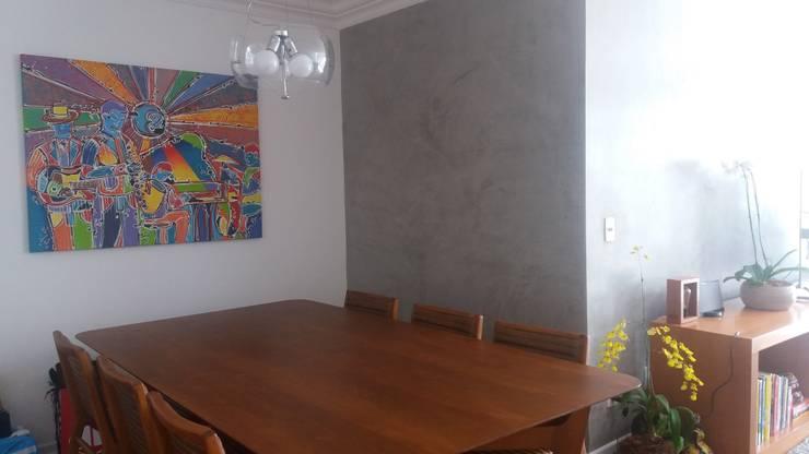 Sala de Jantar:   por FLAVIA TONACCI ARQUITETURA,Escandinavo Madeira Efeito de madeira