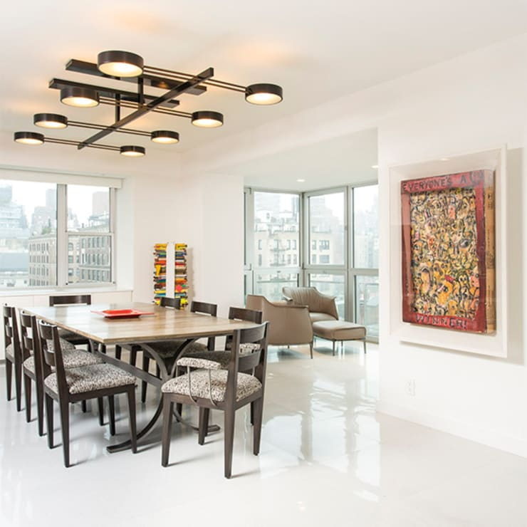 East 69th Street Apartment, NYC:  Dining room by BILLINKOFF ARCHITECTURE PLLC