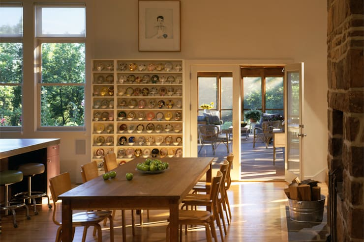 Hayden Lane Residence, Bucks County, PA:  Dining room by BILLINKOFF ARCHITECTURE PLLC