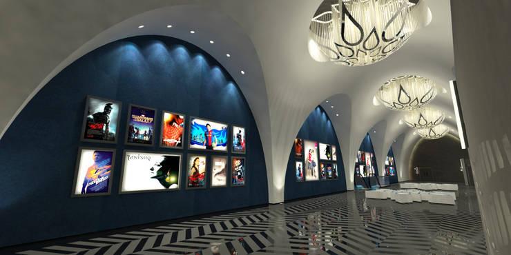 INOX CINEMA:  Walls & flooring by STELLE DESIGN PVT LTD