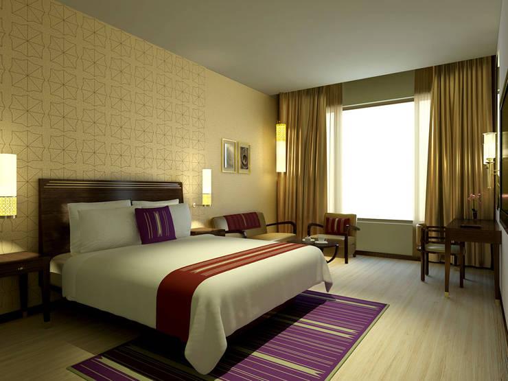 DASAVATARA HOTEL - SAROVAR MARASA HOTEL: mediterranean  by STELLE DESIGN PVT LTD,Mediterranean