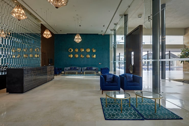 DASAVATARA HOTEL—SAROVAR MARASA HOTEL: mediterranean  by STELLE DESIGN PVT LTD,Mediterranean