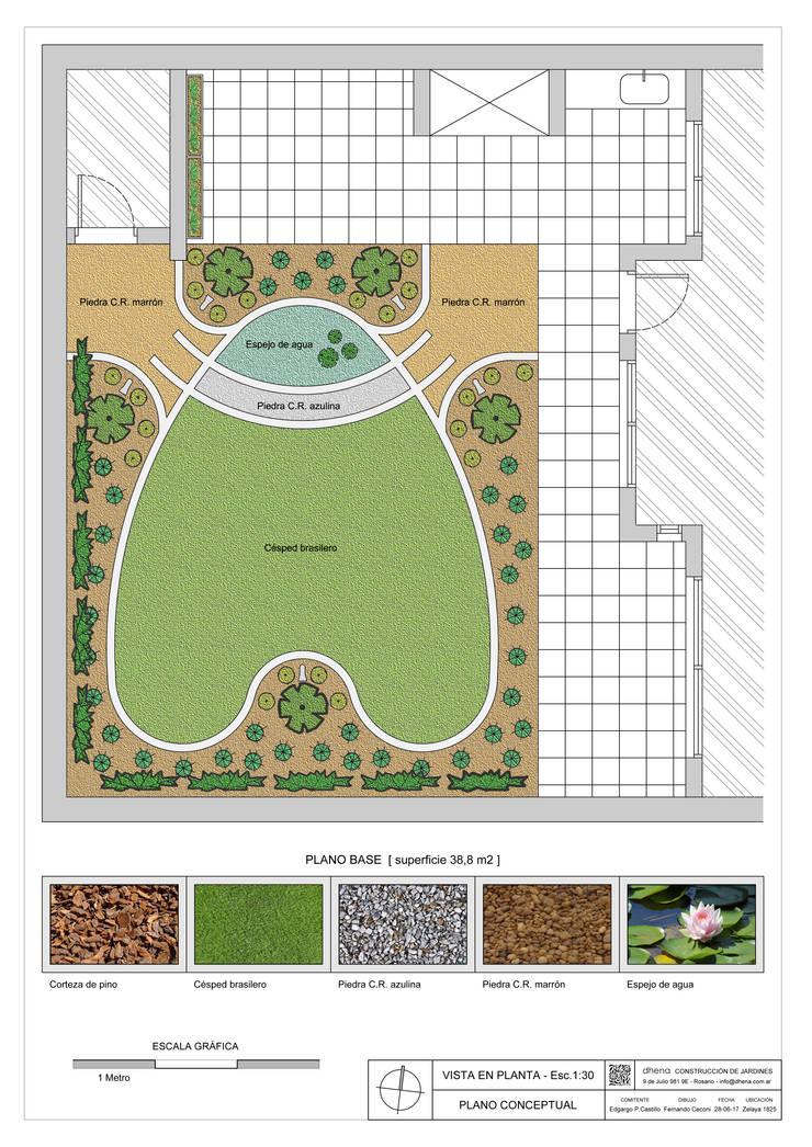 Jardín Las Enanas: Jardines con piedras de estilo  por Dhena CONSTRUCCION DE JARDINES,