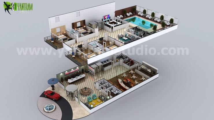 Hotels by Yantram Architectural Design Studio