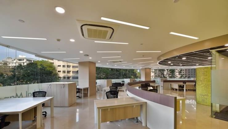 Faculty and Staff Room:  Schools by Studio - Architect Rajesh Patel Consultants P. Ltd