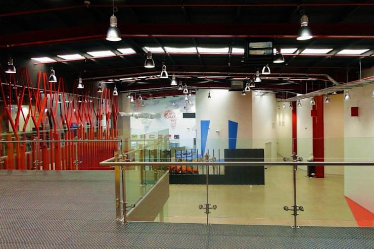 Mezzanine Area:  Schools by Studio - Architect Rajesh Patel Consultants P. Ltd