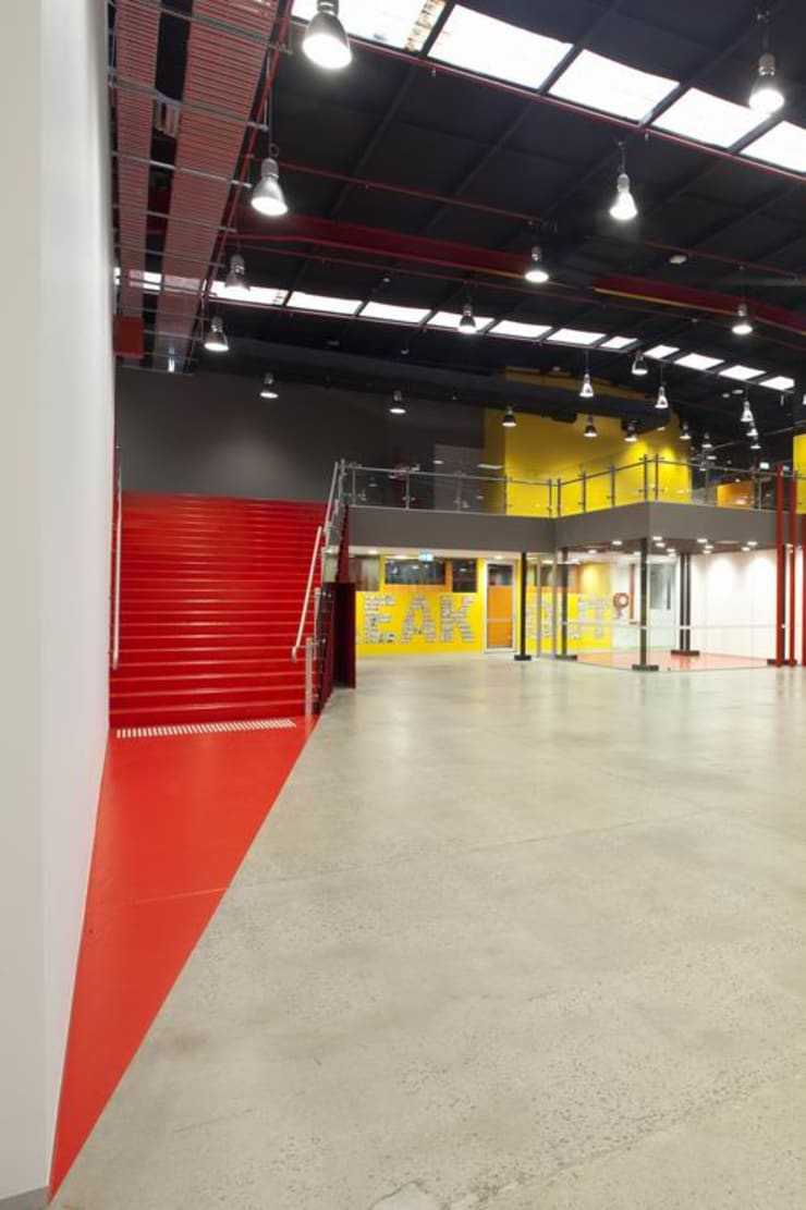 Common Circulation Space:  Schools by Studio - Architect Rajesh Patel Consultants P. Ltd