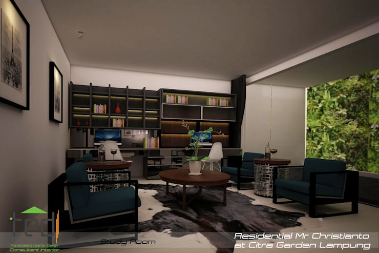 Citra Garden Residence Lampung:  Ruang Kerja by PD.Teguh Desain Indonesia