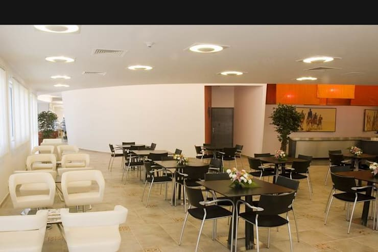 Executive Cafeteria- Seating :  Schools by Studio - Architect Rajesh Patel Consultants P. Ltd ,Modern