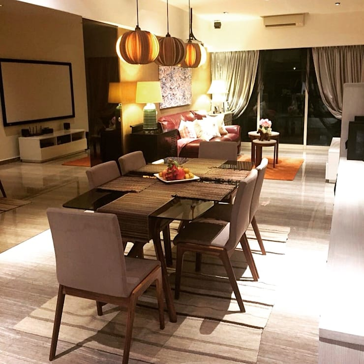 Project @ Holland Road Condo:  Dining room by ab1 Abode Pte Ltd