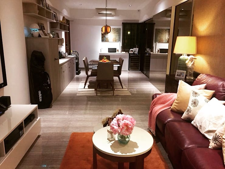 Project @ Holland Road Condo:  Living room by ab1 Abode Pte Ltd,Modern