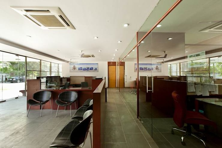 Ground Floor Office:  Office buildings by Studio - Architect Rajesh Patel Consultants P. Ltd ,Modern