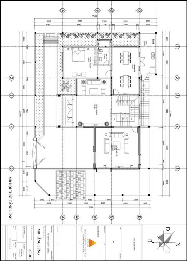 Mặt bằng thiết kế tổng thể:  Nhà by KIẾN TRÚC TÂY HỒ