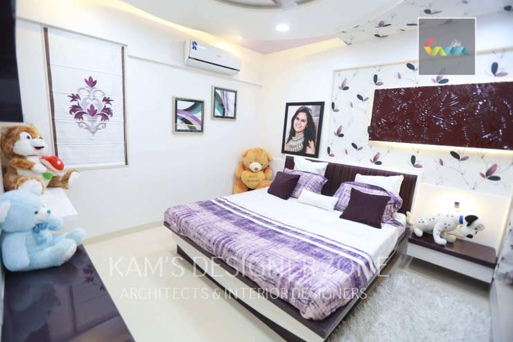 Flat Designed at Aundh of Mr. Satish Tayal:  Girls Bedroom by KAM'S DESIGNER ZONE