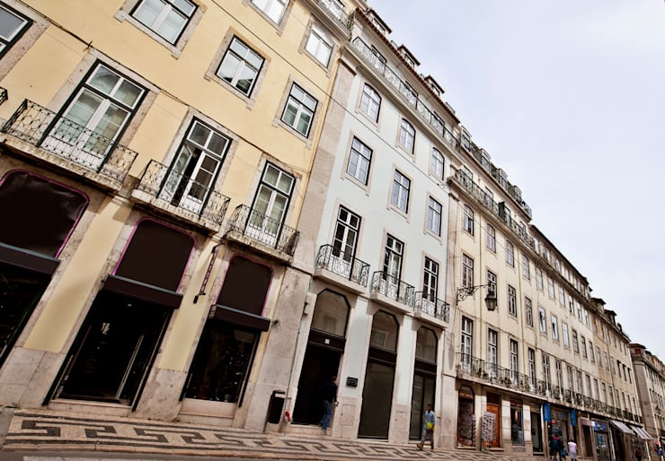 Paredes y pisos de estilo  por Pureza Magalhães, Arquitectura e Design de Interiores
