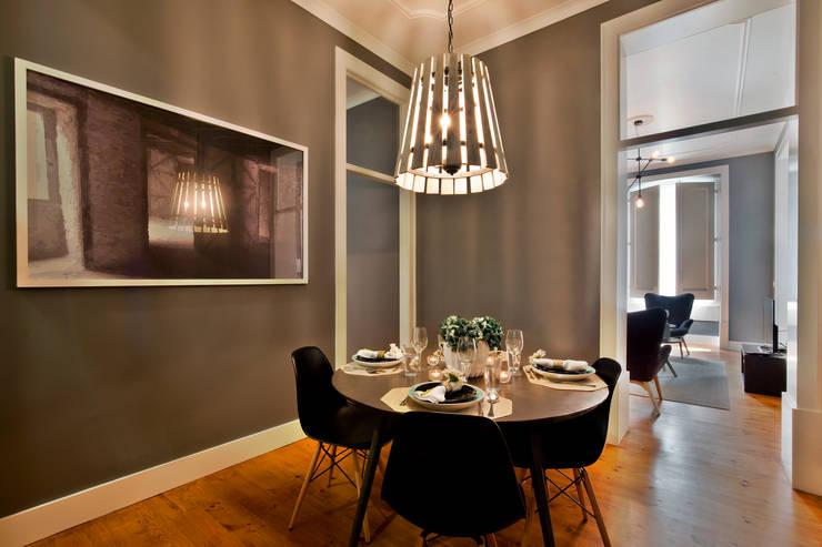 Comedores de estilo  por Pureza Magalhães, Arquitectura e Design de Interiores