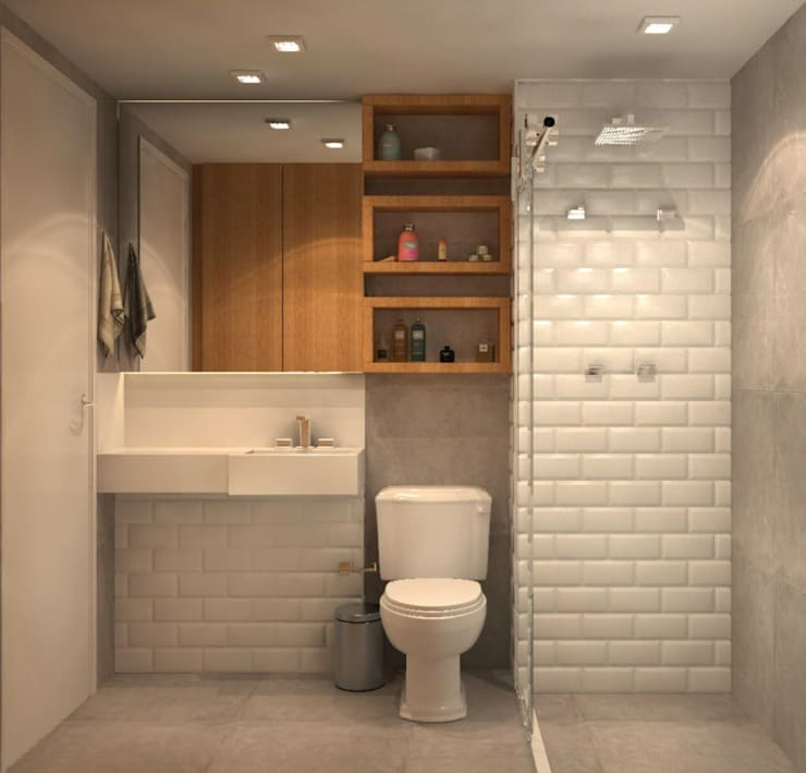 Bathroom by Fragmento Arquitetura
