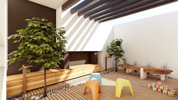 Tерраса в . Автор – Modulor Arquitectura