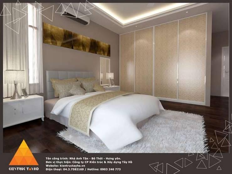 Phòng ngủ:  Phòng ngủ by KIẾN TRÚC TÂY HỒ