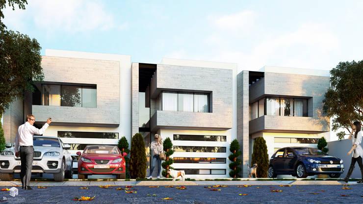 Residencial, Miahuatlán: Casas de estilo  por 3h arquitectos