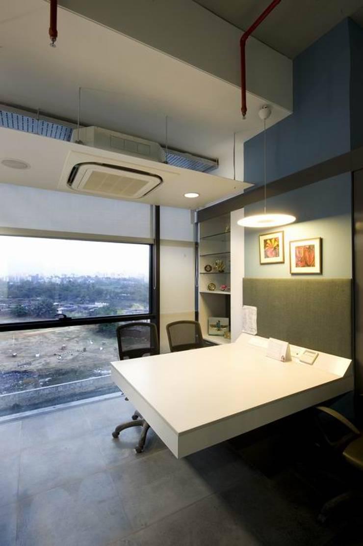 Director's Cabin:  Commercial Spaces by Studio - Architect Rajesh Patel Consultants P. Ltd