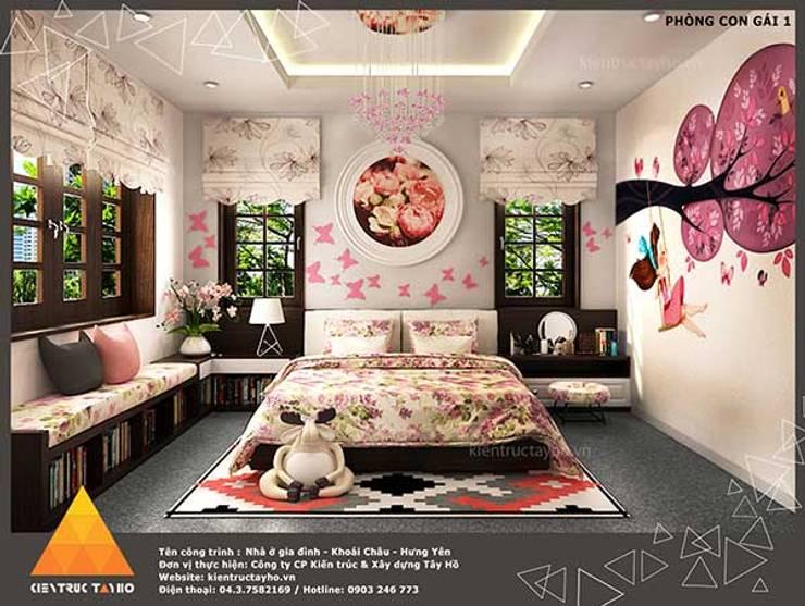 Phòng ngủ con gái view1:  Phòng ngủ by KIẾN TRÚC TÂY HỒ