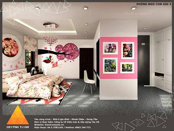 Phòng ngủ con gái view2:  Phòng ngủ by KIẾN TRÚC TÂY HỒ