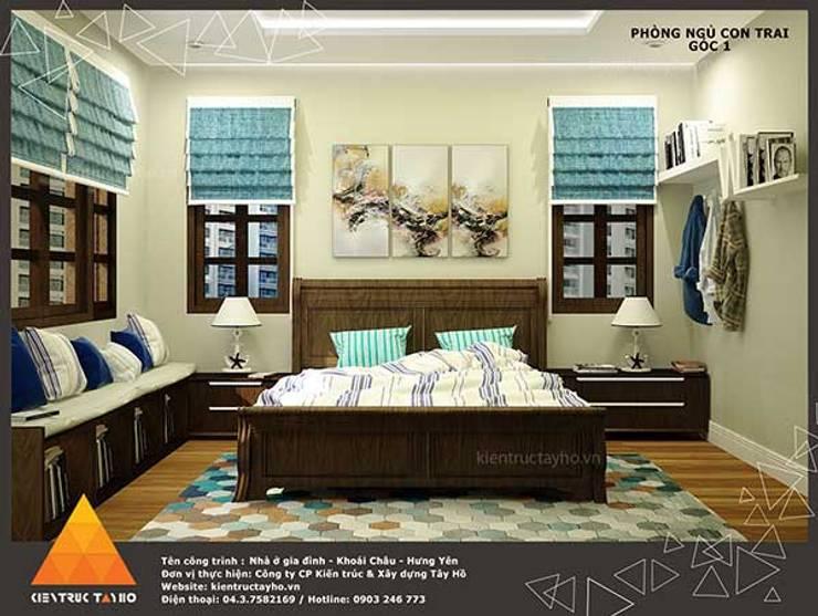 Phòng ngủ con trai view1:  Phòng ngủ by KIẾN TRÚC TÂY HỒ