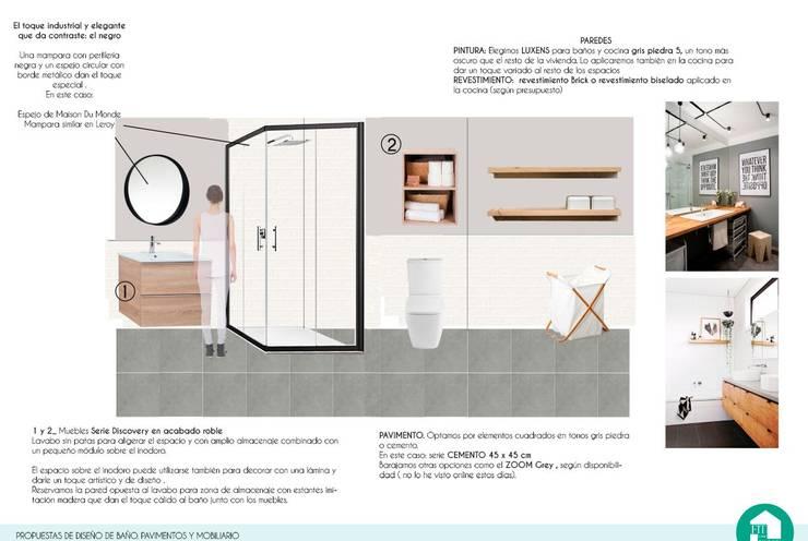 Diseño de baño:  de estilo  por Fityourhouse AD & Home Staging