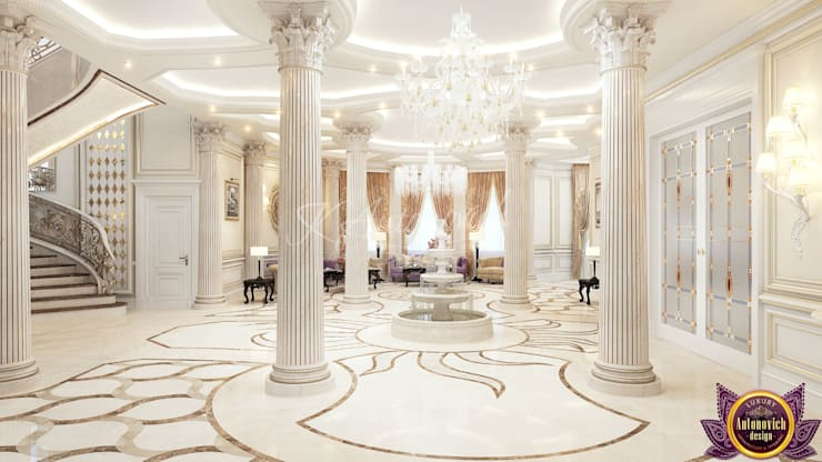 ​  Perfect interior design from Katrina Antonovich:  Corridor & hallway by Luxury Antonovich Design