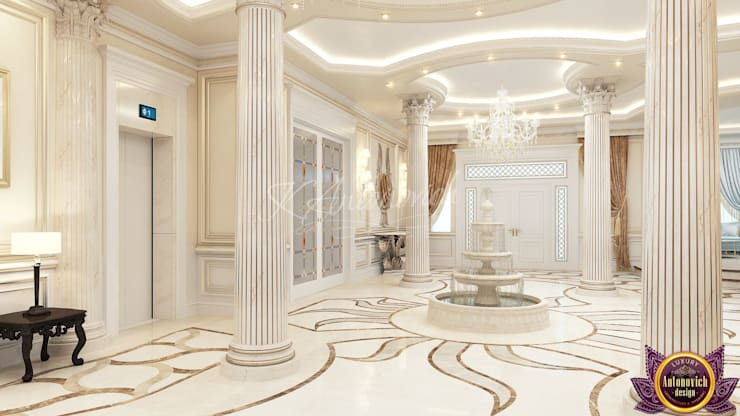 ​  Perfect interior design from Katrina Antonovich:  Corridor & hallway by Luxury Antonovich Design,