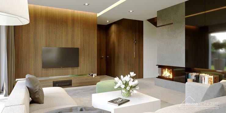 Projekt domu HoemKONCEPT 51: styl , w kategorii Salon zaprojektowany przez HomeKONCEPT | Projekty Domów Nowoczesnych