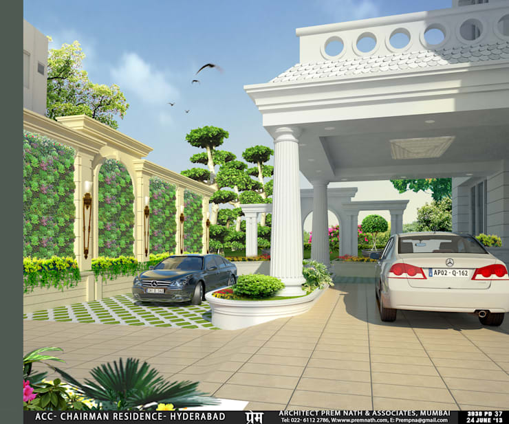 Villa at Hyderabad:   by Prem Nath And Associates
