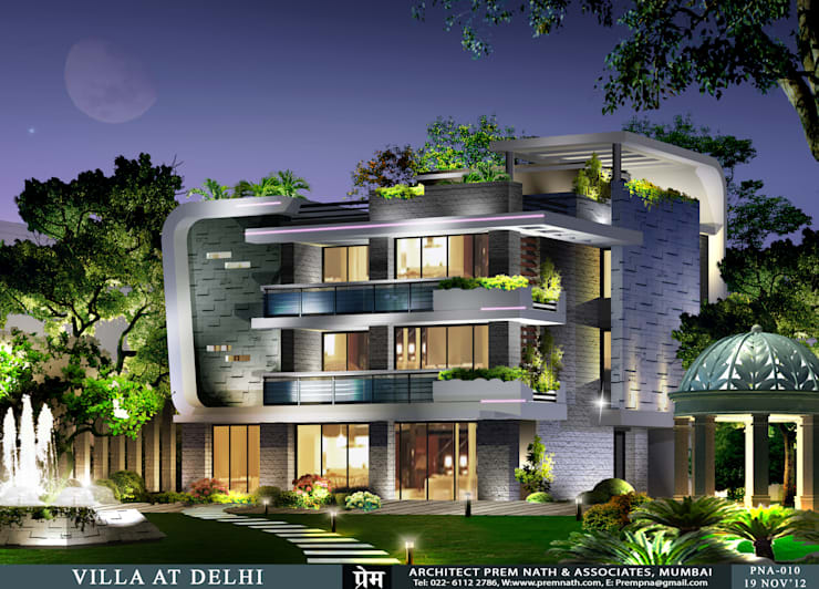 Villa at Delhi:   by Prem Nath And Associates