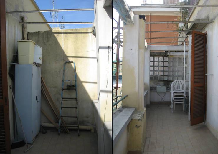 Modern Balkon, Veranda & Teras EMC2Architetti Modern