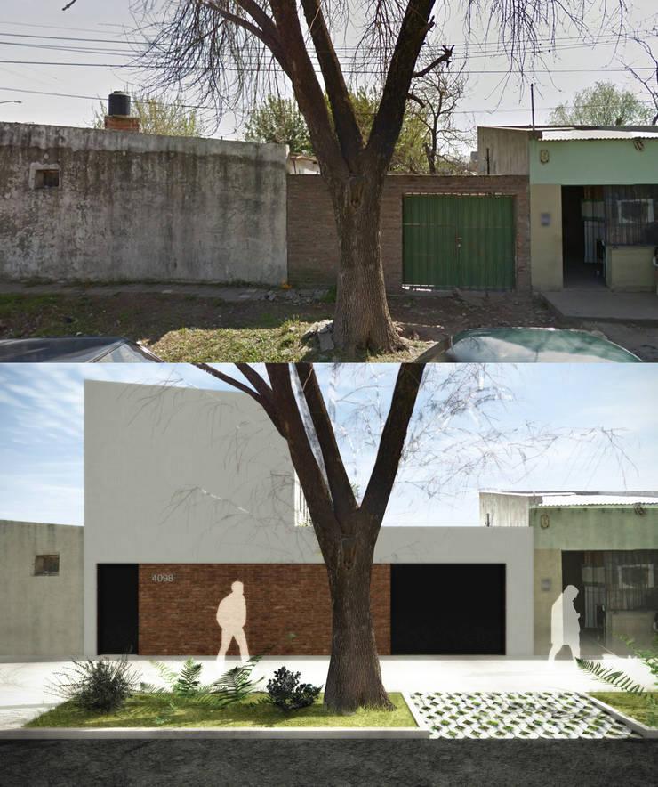 Proyecto Vivienda en 2 Plantas: Casas unifamiliares de estilo  por EKOPP obras & arquitectura