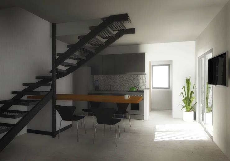 Proyecto Vivienda en 2 Plantas: Comedores de estilo  por EKOPP obras & arquitectura