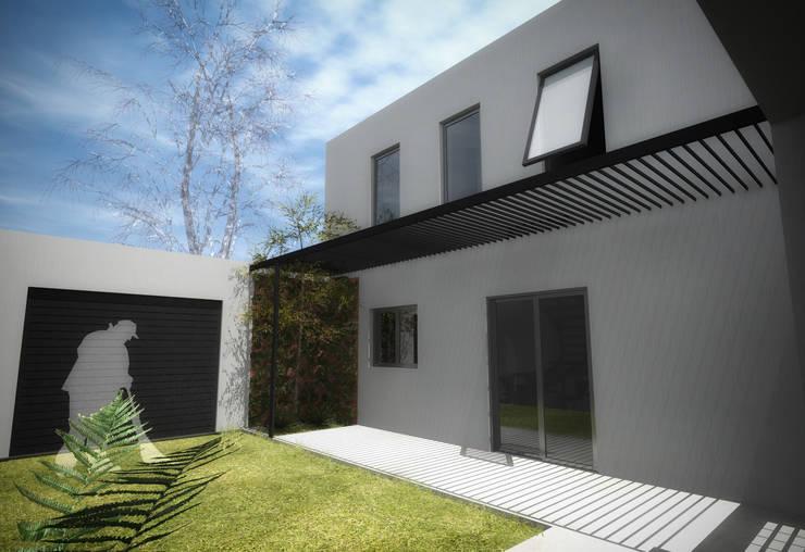 Proyecto Vivienda en 2 Plantas: Jardines de estilo  por EKOPP obras & arquitectura