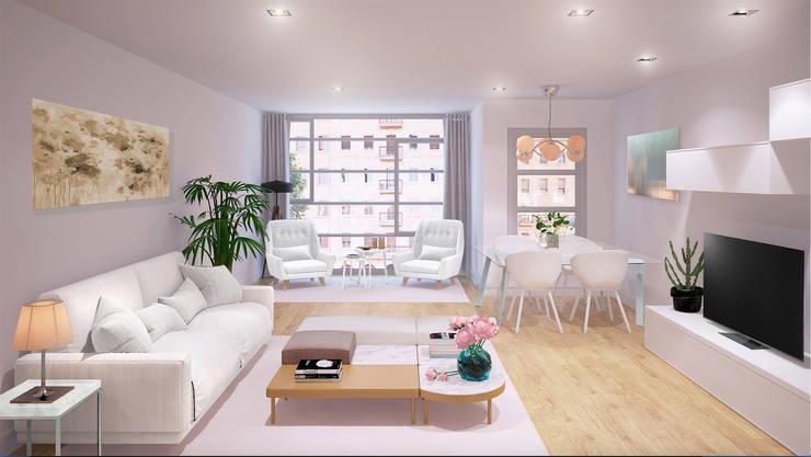 Salas / recibidores de estilo  por 3Deko
