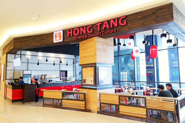 HONG TANG Baywalk Mall Pluit:  Ruang Makan by Evonil Architecture