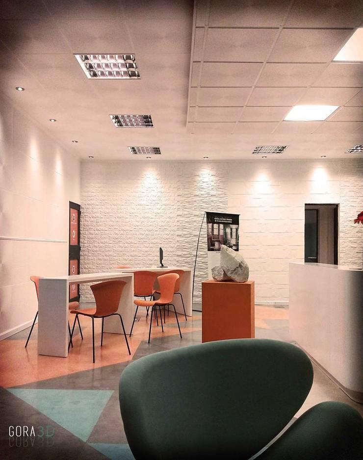 Ruang Kerja oleh GORA Arquitectura 3D, Modern