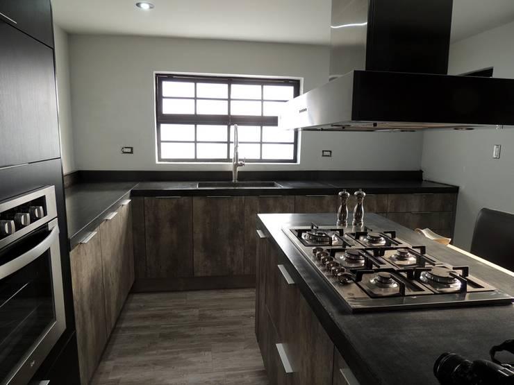 Cubierta de concreto Negro: Cocina de estilo  por Pitaya