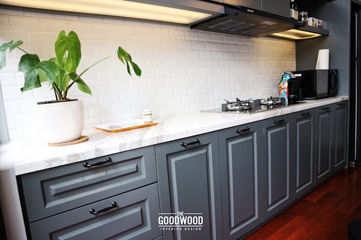 Rumah A+S:  Dapur by The GoodWood Interior Design