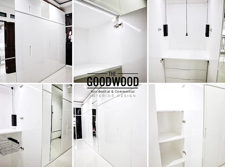 Dressing room by The GoodWood Interior Design,