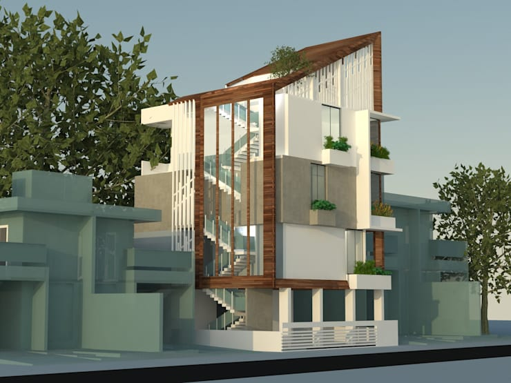 3 Floor Residential Apartments:   by monolith projects